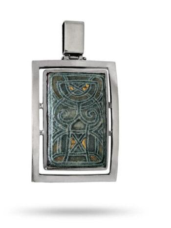 masiven-srebyren-medalion-s-rychnko-risuvana-keramika-719m