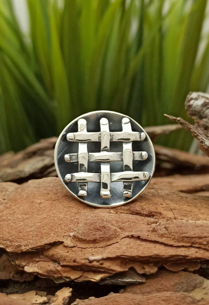 Сребърен-пръстен-ПЛИТКА-1000R-ръчно-изработен-пръстен-от-сребро-925-Студио-Николас.