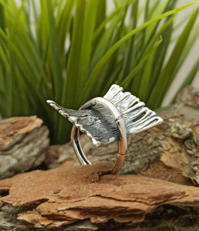 Сребърен пръстен за жени 957R Студио Николас български производител на бижута за мъже