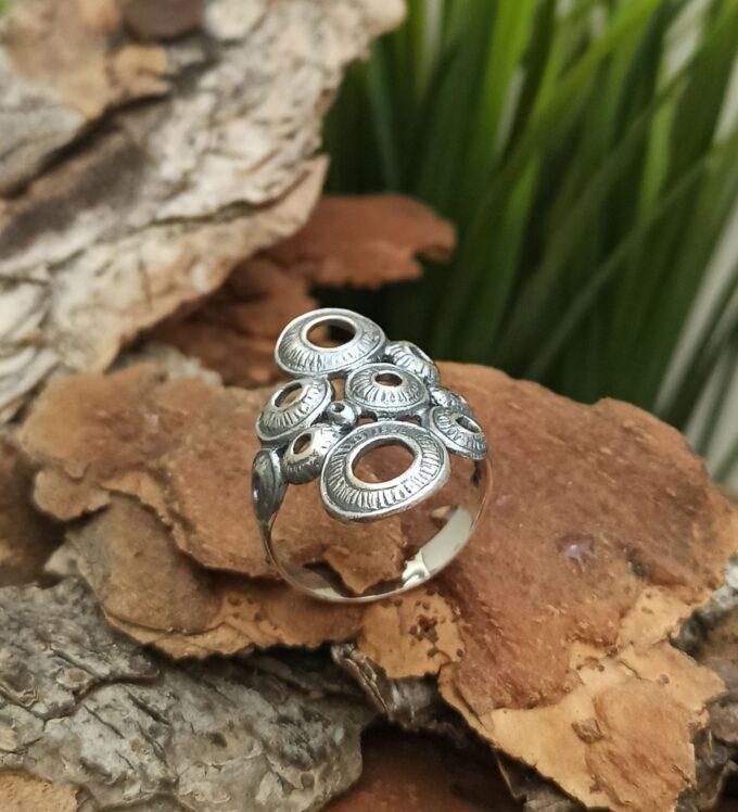 Сребърен пръстен 996R КРЪГОВЕ Единство безкрайност и висше съвършенство