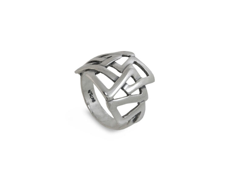 damski-prysten-srebro-labirint-963r