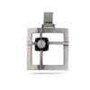 Дамски сребърен медальон с инкрустирана речна перла. Ръчна изработка модел 825M на Студио Николас.Комплект бижута от сребро 925 с перла.