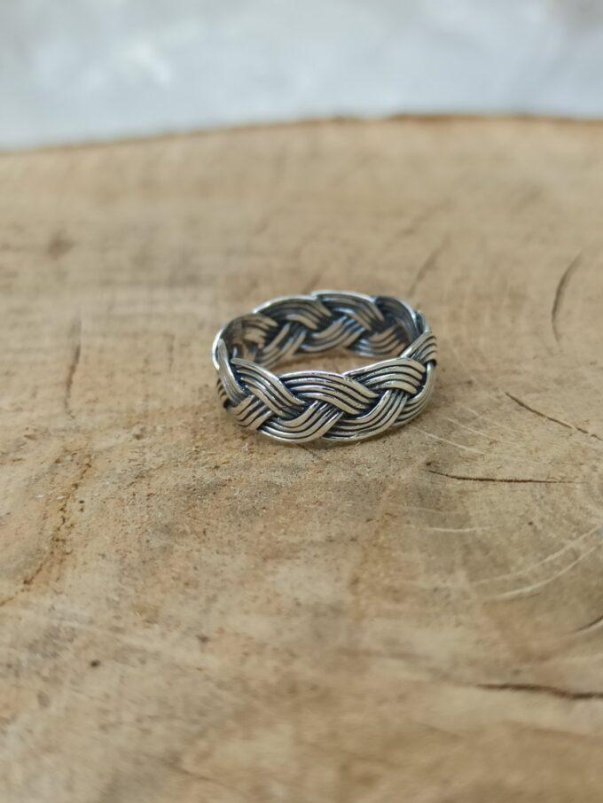 сребърен-пръстен-плитка-студио-николас