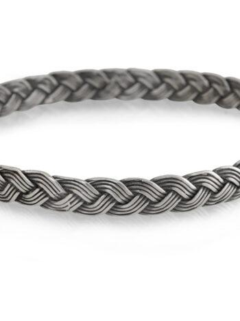 сребърна-твърда-гривна-плитка-1123B