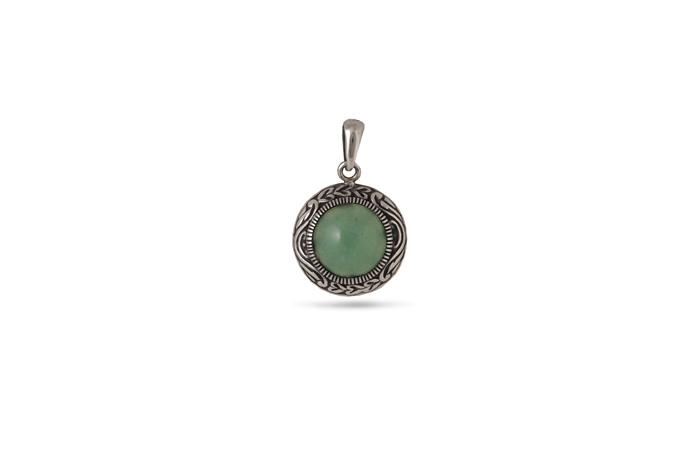 Дамски сребърен медальон 1219M, Николас