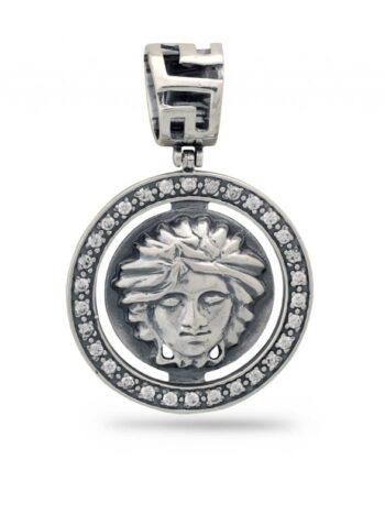 Сребърен медальон Версаче 259M