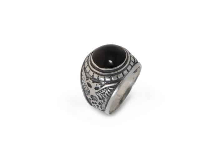 сребърен-пръстен-оникс-955R
