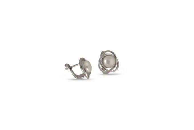 сребърни-обеци-перла-1202E