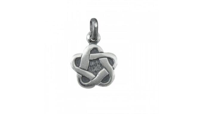 Мъжки сребърен медальон 355T