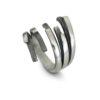 Моделът има възможност за регулиране на размера.Дамски сребърен пръстен, прецизно и ръчно изработен от сребро с проба 925. Номер 467R от каталога на Студио Николас.