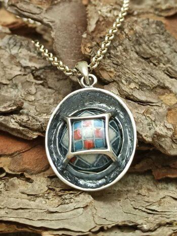 damski-srebaren-medalion-mnogotsvetna-keramika-1042m 3