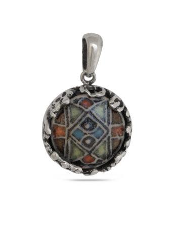 damski-srebaren-medalion-s-keramika-1053m