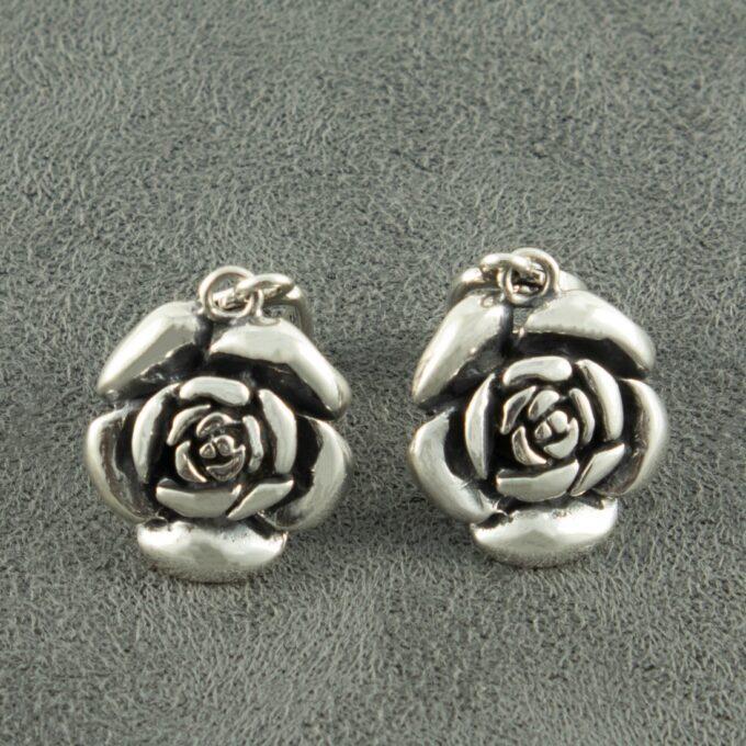 Дамски-сребърни-обеци-Роза-594E