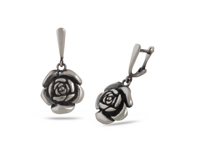 сребърни-обеци-роза-594E
