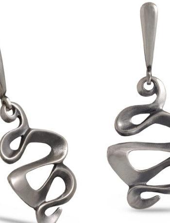 Дамски сребърни обеци 073E, Николас
