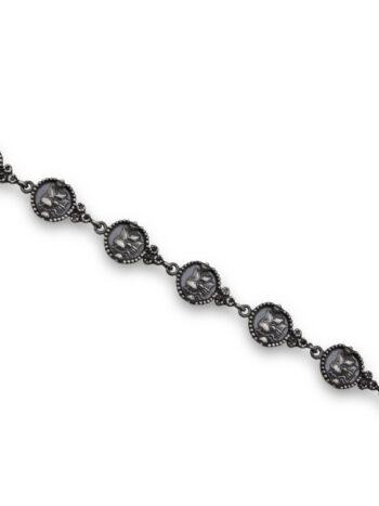 Nikol@s е изкуствoто, с внимание към всеки детайл.Ръчна изработка,925 пробa, сребърна красота!Дамска сребърна гривна,модел 589B Студио Николас,пръстен,обеци