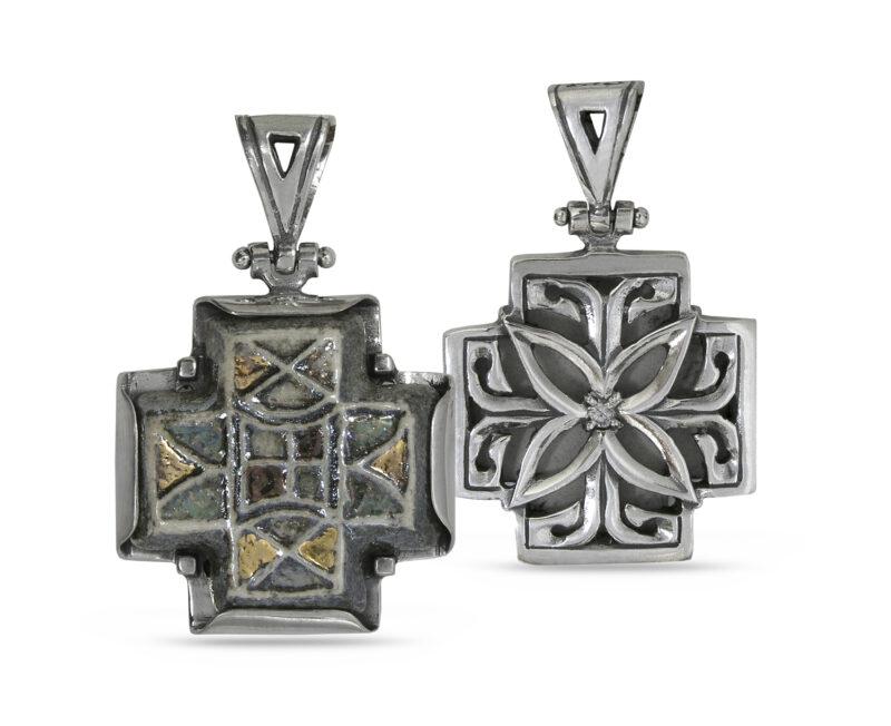сребърен-кръст-с-керамика-287M