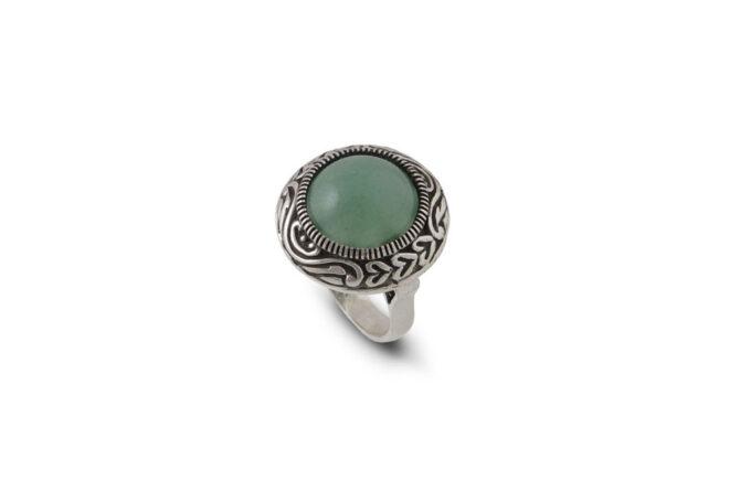 сребърен-пръстен-авантюрин-1218R