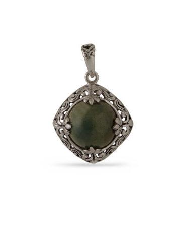 Дамски сребърен медальон - 11258M. Ръчна изработка, 925 пробa, сребърна красота!