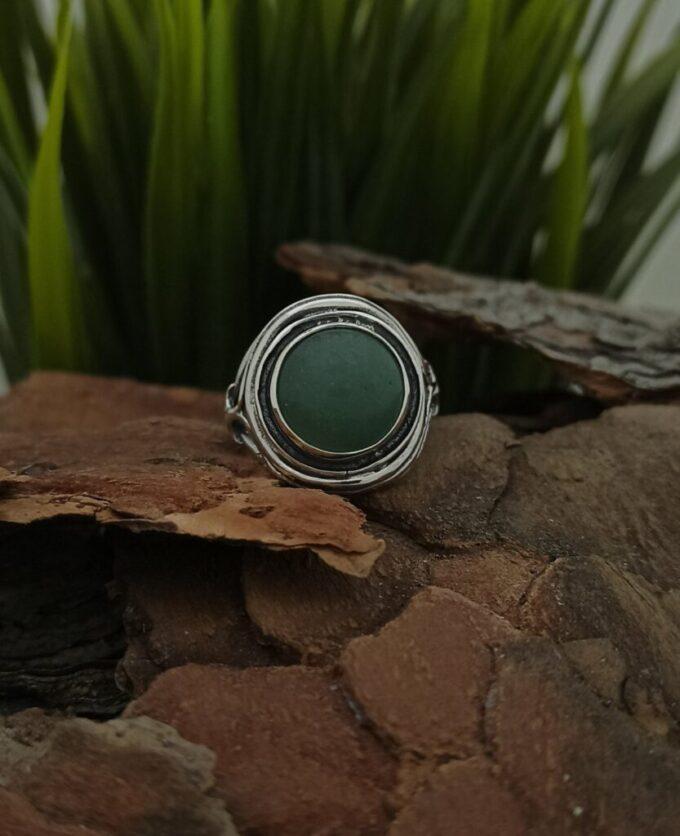 damski-srebyren-prasten-zelen-avanturin-1225r-studio-nikolas