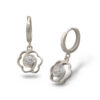 Дамски сребърни обеци с циркони, модел 025E, Студио Николас
