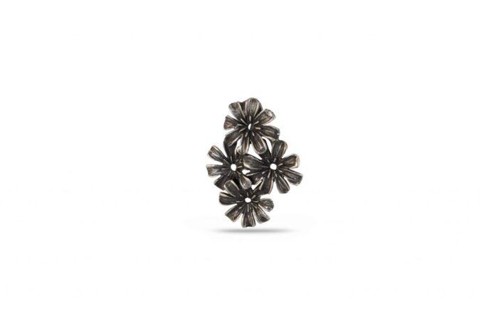 сребърен-медальон-цветя-1164M