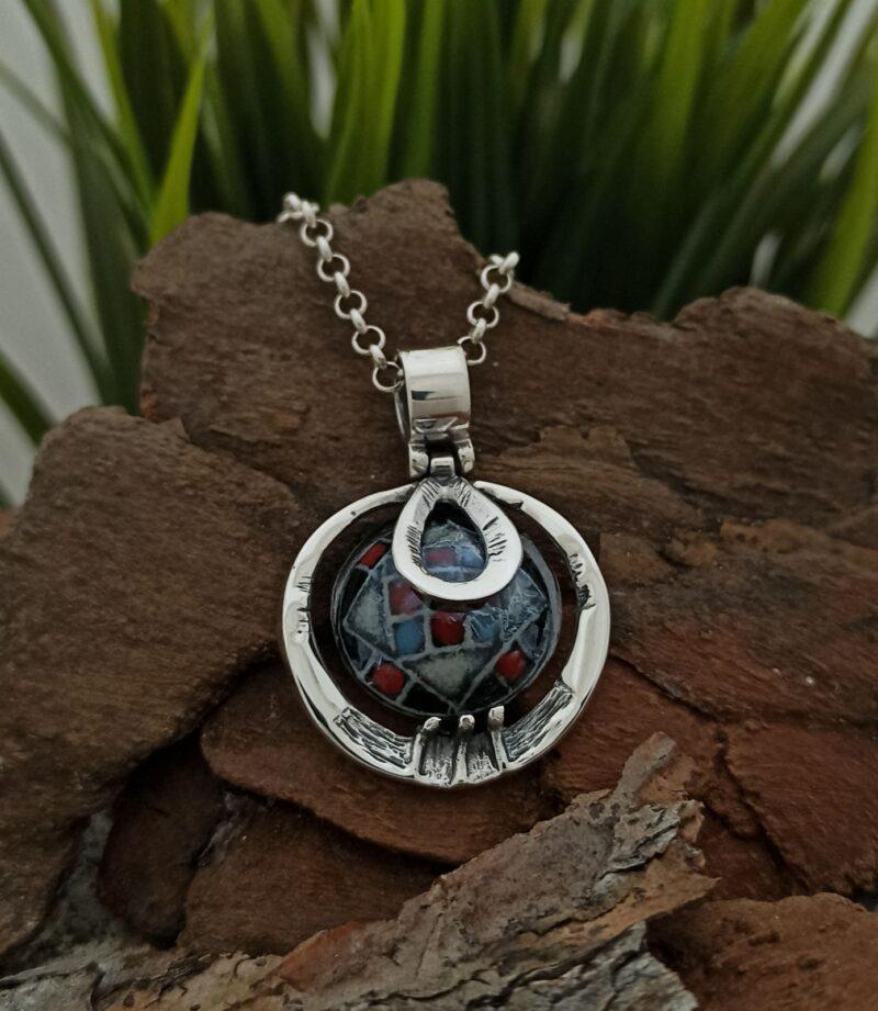 damski-srebaren-medalion-s-keramika-1049m