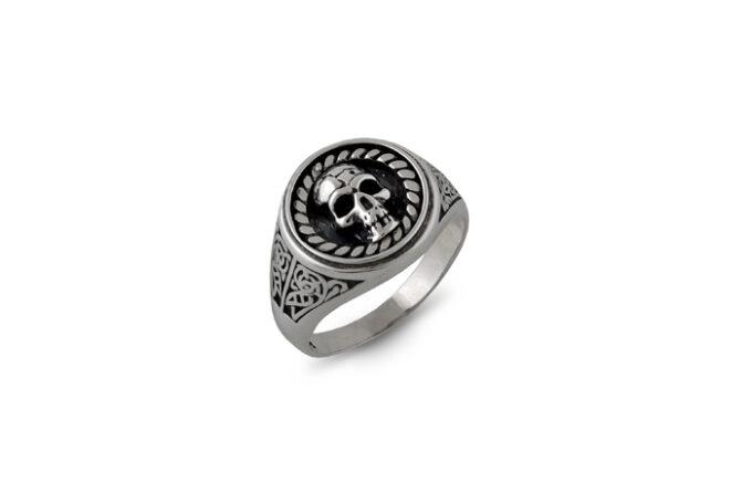сребърен-пръстен-череп-без-камъни-готик-1298R