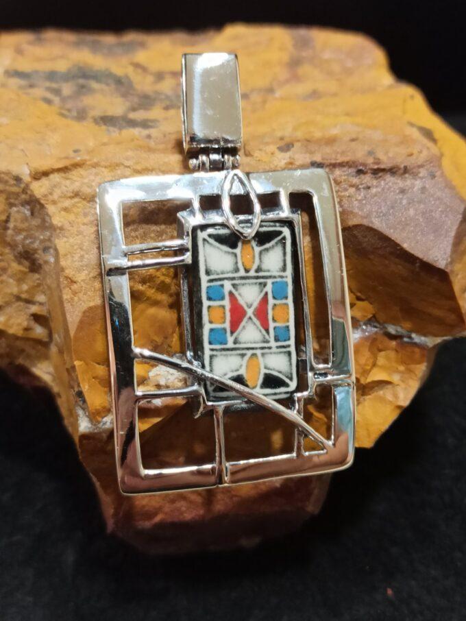 медальон-сребрo-керамика-студио-николас