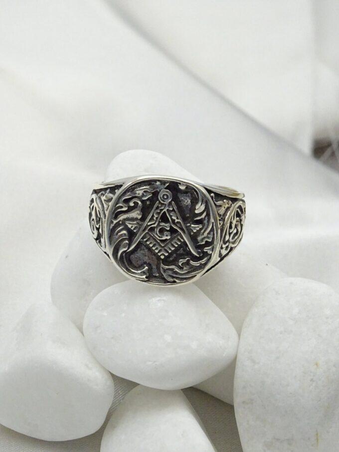 Сребърен пръстен Пергел и Винкел 1327R студио николас