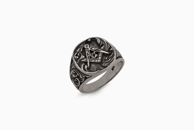 тамплиерски-пръстен-винкел-пергел-1327R