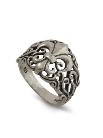 damski-sreb-ren-pr-sten-fleur-de-lis-silver