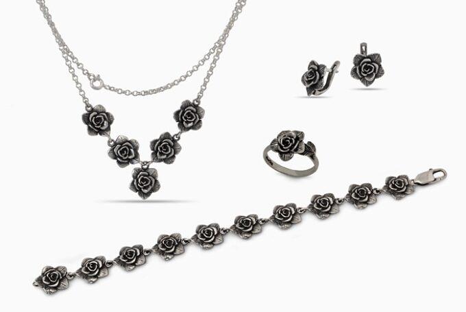 сребърен-комплект-нежна-роза-1328R-1329E-1331B-1330N