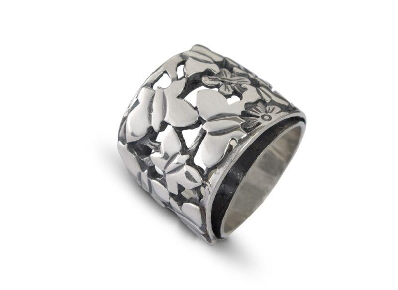 сребърен-пръстен-пеперуди-432R