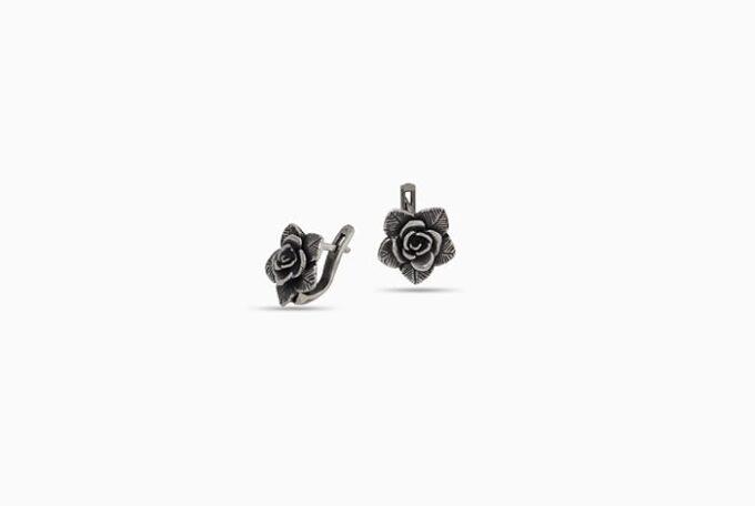 сребърни-обеци-роза-1329E