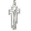 Ръчно изработен, медальон във формата на сребърен кръст с разпятие. Дизайнерски модел 035M от Студио Николас