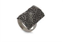 Дамски сребърен пръстен по дължината на пръста 1369 R