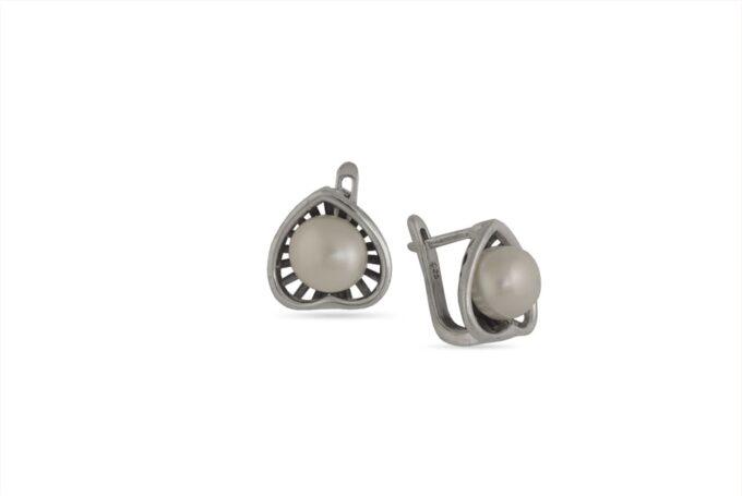 обеци-сребърно-сърце-перла-1384E