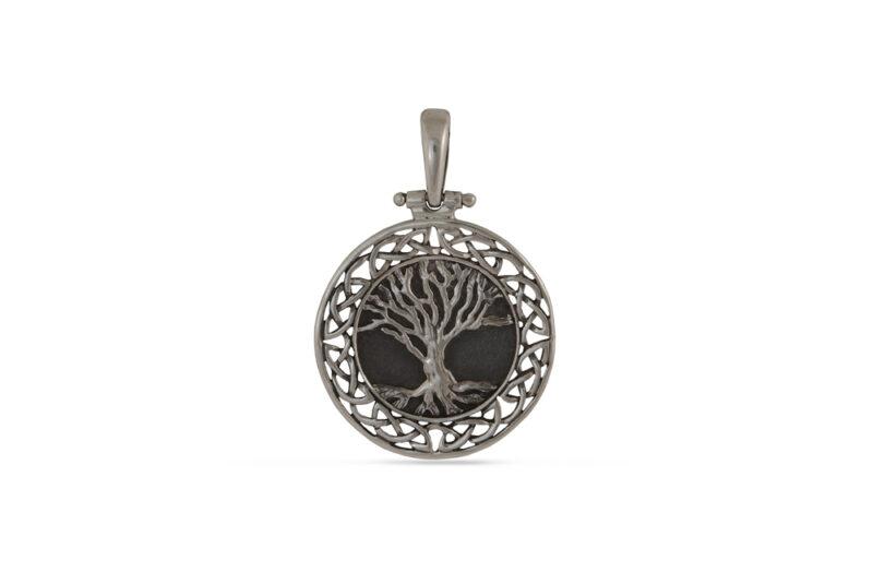 """Викингски медальон от сребро """"Дърво на живота - """"Yggdrasil"""" унисекс модел 1424M на Студио Николас"""