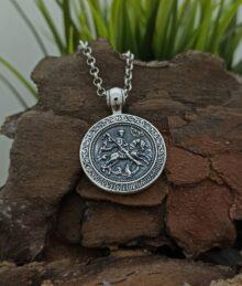 srebaren-medalon-sveti-georgi-1194m-model-na-studio-nikolas-srebro-s-proba-925-otpred