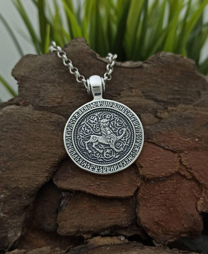 srebaren-medalon-sveti-georgi-1194m-model-na-studio-nikolas-srebro-s-proba-925