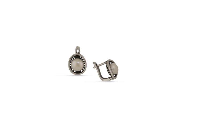 сребърни-обеци-1406E-перла