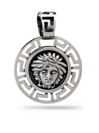 сребърен-медальон-Версаче-261M