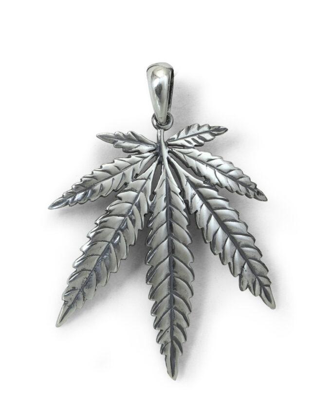 висулка-сребро-листо-марихуана-438M