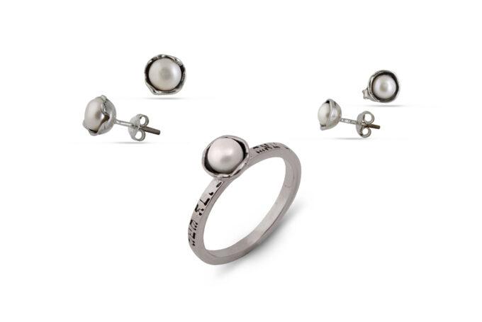кабала-талисмани-комплект-сребро-перли-1452R-1453E-1454E