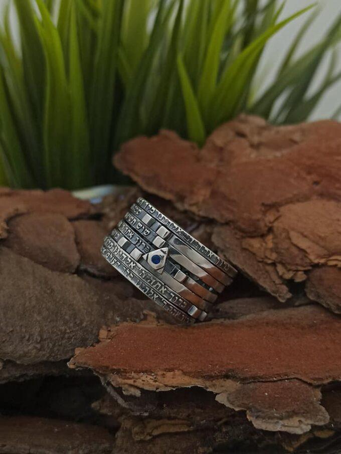 сребърен-пръстен-седемте-благословии-студио-николас-гранат-цирконий