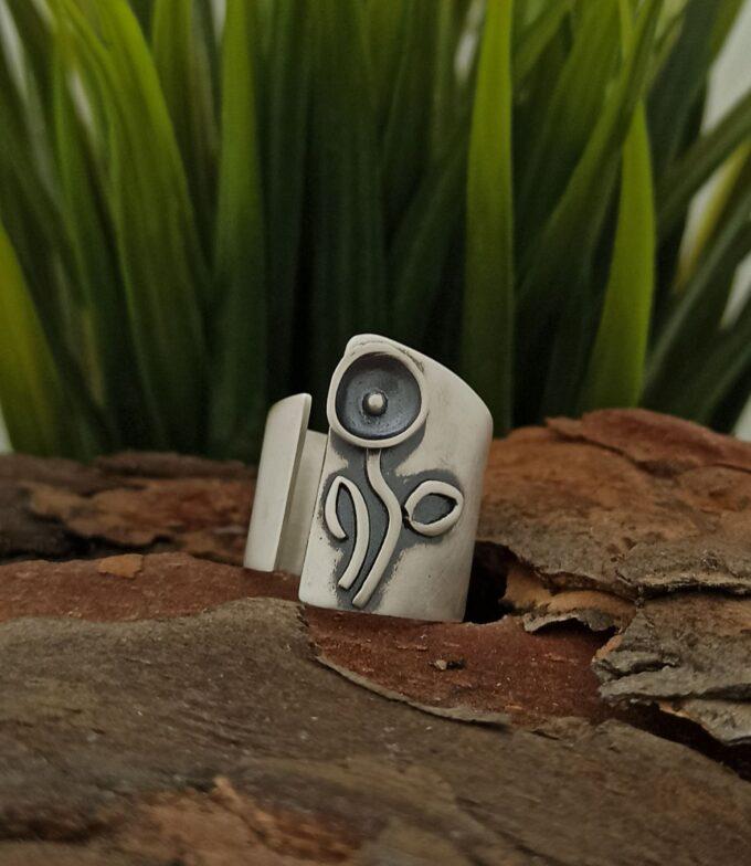 дамски-сребърен-пръстен-отворен-модел-1302R-Студио-Николас