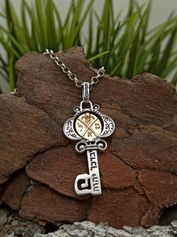 kabbalah-talisman-kluch-izobilie-srebro-zlato-1461mg-кабала-сребърен-ключ-с-14-каратово-злато