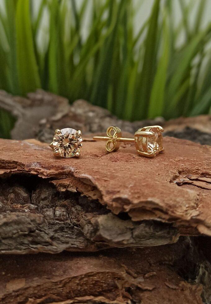 кабала златни обеци с цирконий ръчно изработени от 14 каратово злато и циркон.jpg