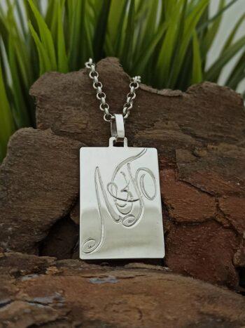 Сребърен-медальон-434ID-с-ръчно-изписани-инициали-studio-nikolas